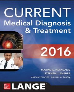 CURRENT Medical Diagnosis and Treatment 2016 PDF