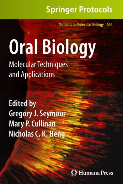 Oral Biology Molecular Techniques and Applications PDF