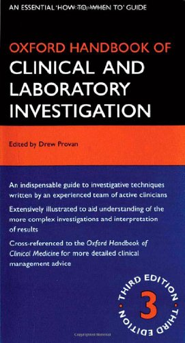 Oxford Handbook of Clinical and Laboratory Investigation 3rd Edition PDF