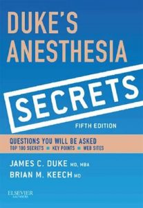 Duke's Anesthesia Secrets 5th Edition PDF