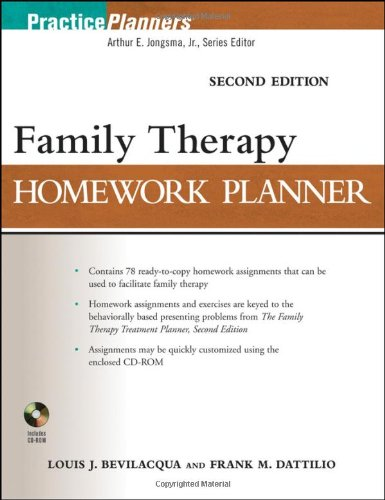 Family Therapy Homework Planner 2nd Edition PDF