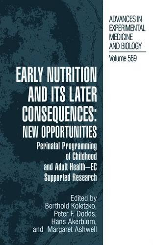 Early Nutrition and its Later Consequences PDF
