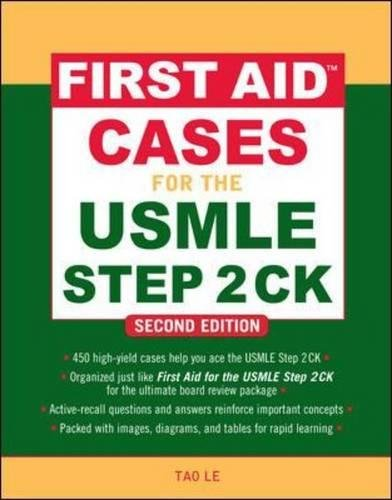 First Aid Cases for the USMLE Step 2 CK Second Edition (First Aid USMLE) PDF