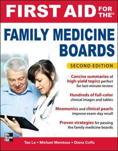 First Aid for the Family Medicine Boards Second Edition PDF