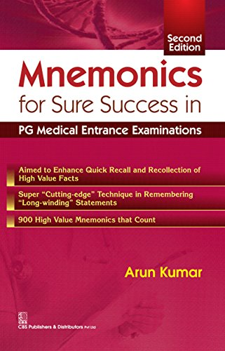 Mnemonics for sure success in PG Medical Entrance Examination 2nd Edition PDF