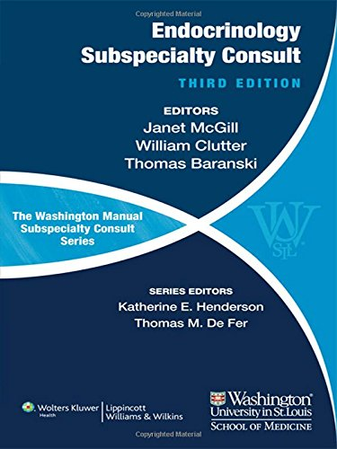 The Washington Manual of Endocrinology Subspecialty Consult 3rd Edition PDF