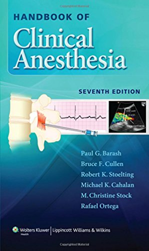 Handbook of Clinical Anesthesia 7th Edition PDF