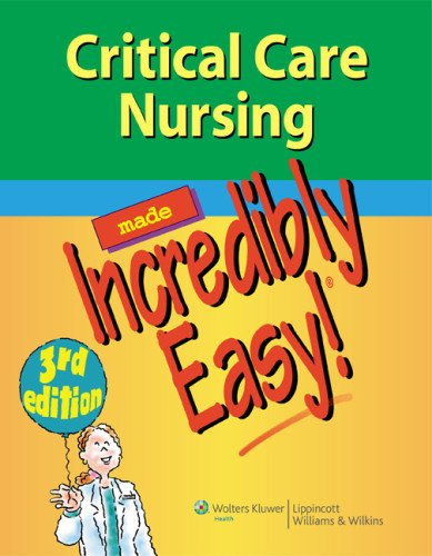 Critical Care Nursing Made Incredibly Easy! 3rd Edition PDF