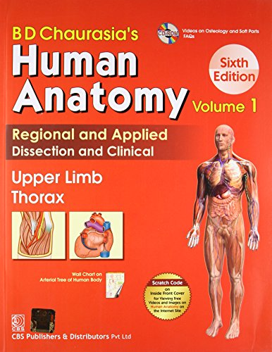 BD Chaurasia's Human Anatomy Vol. 1 Upper Limb Thorax 6th Edition PDF