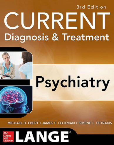 CURRENT Diagnosis & Treatment Psychiatry 3rd Edition PDF
